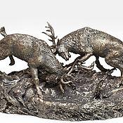 Подарки к праздникам handmade. Livemaster - original item Deer.Sculpture bronze.. Handmade.