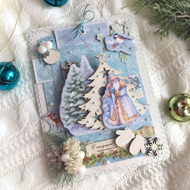 Картинки, открытка ручной работы к новому году