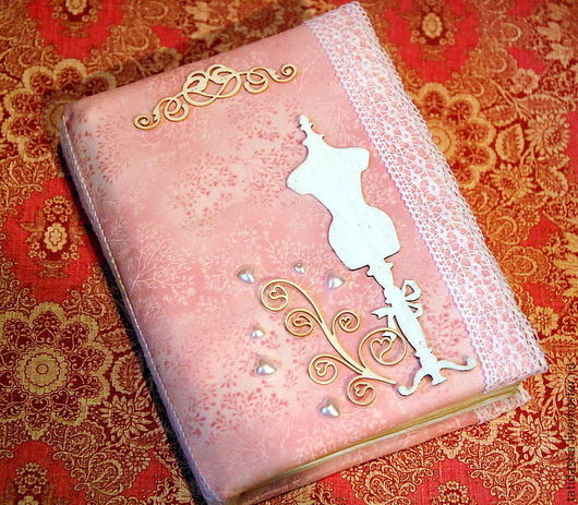 """Блокноты ручной работы. Ярмарка Мастеров - ручная работа. Купить Блокнот """"Кокетка"""". Handmade. Розовый, блокнот в подарок, Блокнот для женщины"""