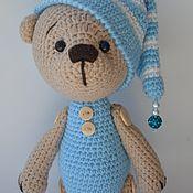 Куклы и игрушки ручной работы. Ярмарка Мастеров - ручная работа Мишка, Вязаный мишка в пижамке. Handmade.