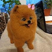 Мягкие игрушки ручной работы. Ярмарка Мастеров - ручная работа Мягкие игрушки: собака  шпиц  Мандаринка. Handmade.