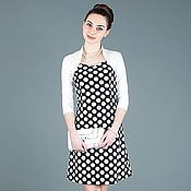 Одежда ручной работы. Ярмарка Мастеров - ручная работа 0314: Молодежное платье в горошек, летнее платье в горох. Handmade.