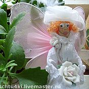 """Куклы и игрушки ручной работы. Ярмарка Мастеров - ручная работа Украшение для торта""""Белая фея"""". Handmade."""
