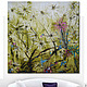 """Картины цветов ручной работы. """"Дикий сад"""" 140х140 см очень большая картина маслом мастихином цветы. SLEEPWALKERS. Интернет-магазин Ярмарка Мастеров."""