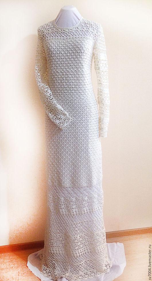 Платья ручной работы. Ярмарка Мастеров - ручная работа. Купить Платье. Handmade. Белый, платье летнее, Вязание крючком