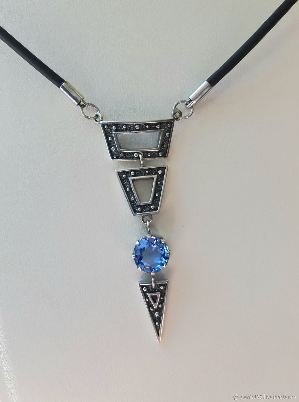 Колье с голубым кварцем серебро, Колье, Владивосток,  Фото №1