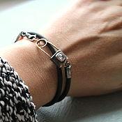 Украшения ручной работы. Ярмарка Мастеров - ручная работа THE FUTURE браслет  (алмаз, серебро, золото, каучук). Handmade.