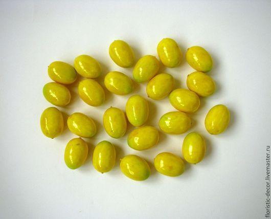 Материалы для флористики ручной работы. Ярмарка Мастеров - ручная работа. Купить Лимоны искусственные фрукты. Handmade. Желтый, лимон
