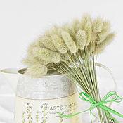 Цветы и флористика ручной работы. Ярмарка Мастеров - ручная работа Лагурус натуральный  сухоцвет букетик. Handmade.