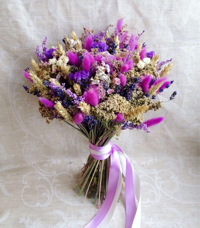 Букет цветов с лавандой