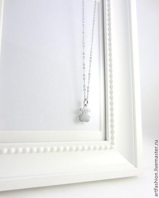 Кулон серебряный от Марии Гербст Мой мишка. Кулон из серебра Мой мишка в стилистике марки TOUS. Серебряный кулон Мой мишка подвеска TOUS.