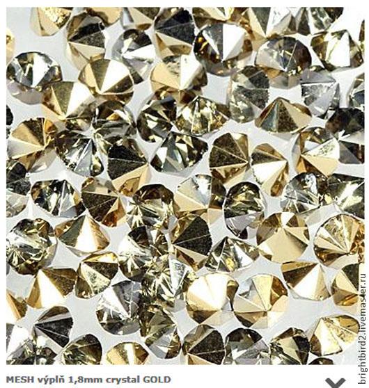 Для украшений ручной работы. Ярмарка Мастеров - ручная работа. Купить Насыпка для браслетов МЕШ 1,8мм кристаллы  Gold. Handmade.