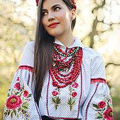 handmade. Livemaster - original item Ethnic costume with hand embroidery