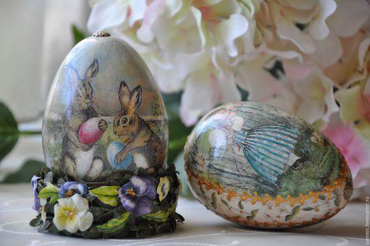 Подарки на Пасху ручной работы. Ярмарка Мастеров - ручная работа. Купить Пасхальные яйца ,,Винтажные,,. Handmade. Бирюзовый, дети