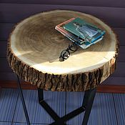 Для дома и интерьера ручной работы. Ярмарка Мастеров - ручная работа деревянный кофейный столик из спила. Handmade.