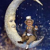 Куклы и игрушки ручной работы. Ярмарка Мастеров - ручная работа Звездочку с неба... (Луна). Handmade.