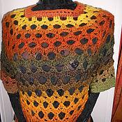 Одежда ручной работы. Ярмарка Мастеров - ручная работа Топ Жилет Пуловер вязаный крючком Осень. Handmade.