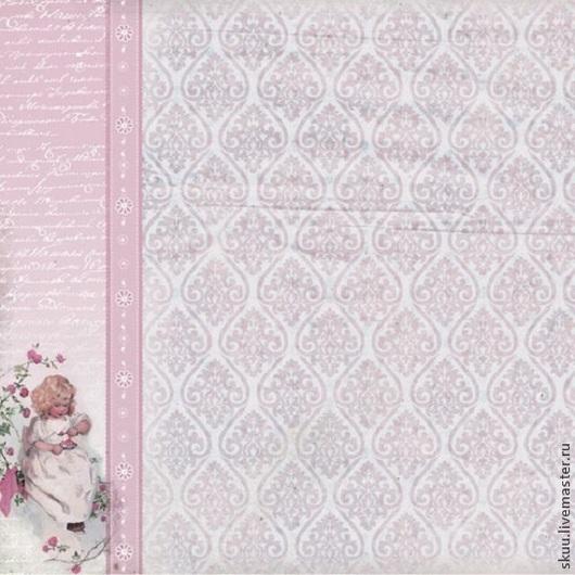 Открытки и скрапбукинг ручной работы. Ярмарка Мастеров - ручная работа. Купить Бумага для скрапбукинга детская вариант 18. Handmade. Розовый