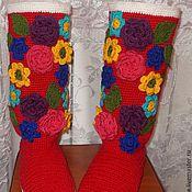 """Обувь ручной работы. Ярмарка Мастеров - ручная работа Сапожки вязаные """"Черевички"""". Handmade."""