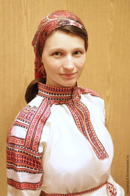 Рубашка со стойкой Полюшко, Одежда, Воронеж, Фото №1