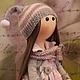 Коллекционные куклы ручной работы. Текстильная куколка ручной работы Мурочка. Юлия Соколова. Ярмарка Мастеров. Текстильная кукла