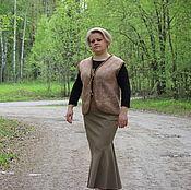 Одежда ручной работы. Ярмарка Мастеров - ручная работа Жилет валяный женский шерстяной теплый. Handmade.
