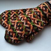 Аксессуары handmade. Livemaster - original item Mittens knitted handmade Ornament c. Handmade.