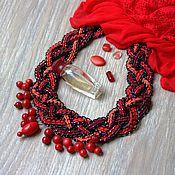 """Украшения ручной работы. Ярмарка Мастеров - ручная работа Колье с кораллами """"Красное платье"""". Handmade."""