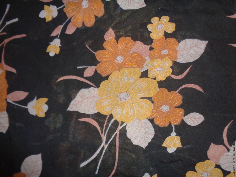 Ткань, шелк натуральный (креп-шифон), винтажный (285х90см), Шитье, Нальчик, Фото №1