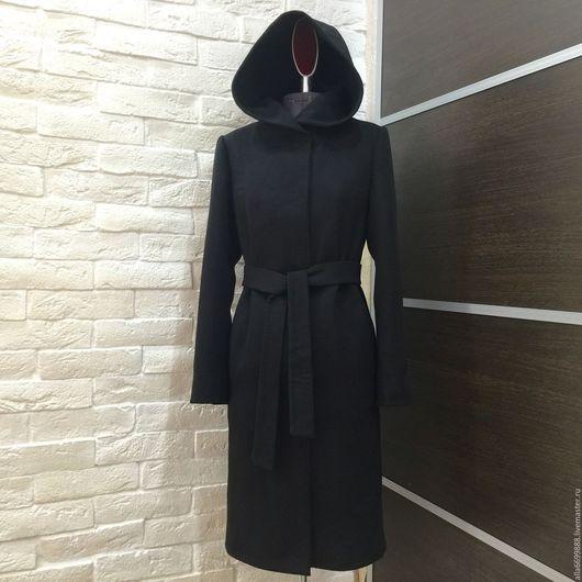 """Верхняя одежда ручной работы. Ярмарка Мастеров - ручная работа. Купить Пальто """"Классическое"""" с капюшоном. Handmade. Однотонный"""
