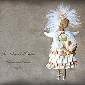 """Куклы и игрушки ручной работы. Ярмарка Мастеров - ручная работа """"Ангел приятных воспоминаний"""" - авторская кофейная куколка. Handmade."""