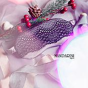 Одежда handmade. Livemaster - original item Sleeping mask made of natural silk with lace. Handmade.
