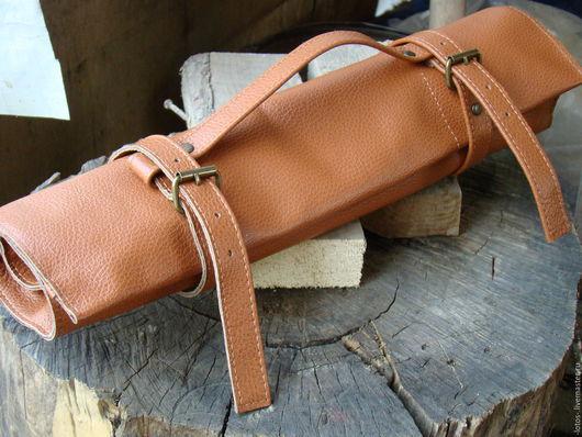 Мужские сумки ручной работы. Ярмарка Мастеров - ручная работа. Купить Скрутка для ножей. Handmade. Однотонный, скрутка, кожаная скрутка
