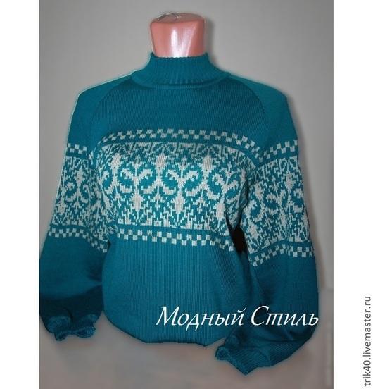 """Кофты и свитера ручной работы. Ярмарка Мастеров - ручная работа. Купить Кофта """"Лилия"""". Handmade. Зеленый, вязаный свитер"""
