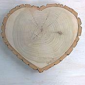 Цветы и флористика ручной работы. Ярмарка Мастеров - ручная работа спил дерева сердце. Handmade.