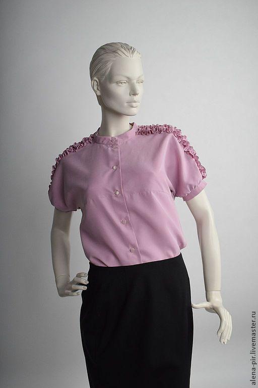 """Блузки ручной работы. Ярмарка Мастеров - ручная работа. Купить Блуза """"Антуаэнетта"""". Handmade. Бледно-розовый, ручная работа"""