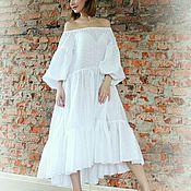 Одежда handmade. Livemaster - original item Airy dress of cotton sewing. Handmade.