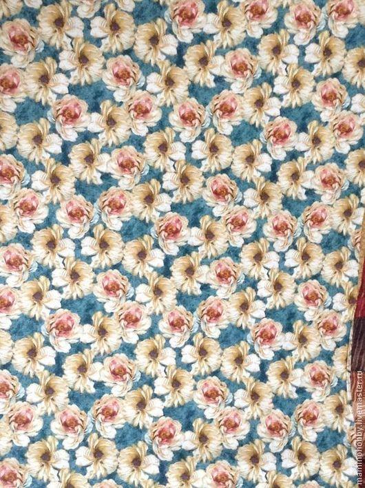 Шитье ручной работы. Ярмарка Мастеров - ручная работа. Купить Ткань хлопок Чайные розы маленькие компаньон. Handmade. Пэчворк