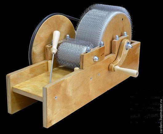 Валяние ручной работы. Ярмарка Мастеров - ручная работа. Купить Кардер барабанный для вычесывания овечьей и козьей шерсти. Handmade. Шерсть