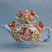 Посуда handmade. Livemaster - original item The tea pot Snegiri. Handmade.