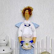 Для дома и интерьера ручной работы. Ярмарка Мастеров - ручная работа Хранительница ватных дисков и ватных палочек №4. Handmade.