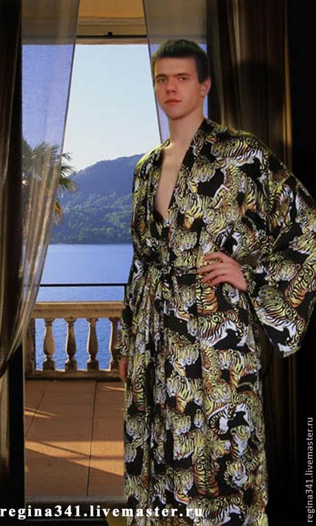 Фото мужского шёлкового кимоно.