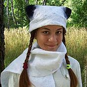 Аксессуары handmade. Livemaster - original item The product of the author`s hat and scarf