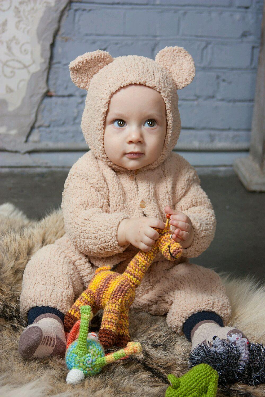 Плюшевые комбинезоны для малышей