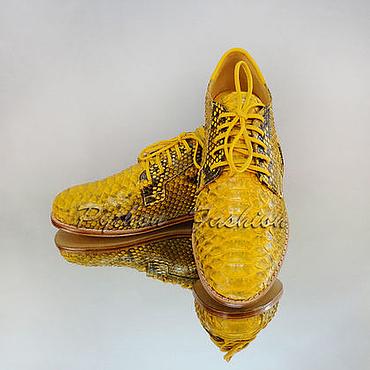 Обувь ручной работы. Ярмарка Мастеров - ручная работа Оксфорды из питона REINE. Handmade.