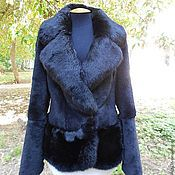 Одежда handmade. Livemaster - original item Beautiful coat with an oversized collar. Handmade.