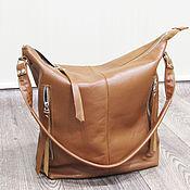 """Классическая сумка ручной работы. Ярмарка Мастеров - ручная работа Женская сумка кожаная """"Milana"""" рыжая. Handmade."""