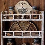 Для дома и интерьера handmade. Livemaster - original item Big shelf for kitchen /solid pine/