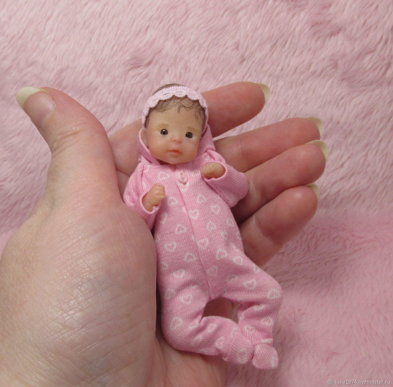 Силиконовая малышка 10см, Куклы Reborn, Северодвинск,  Фото №1