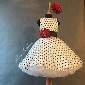 Платье в горошек в стиле « стиляги »